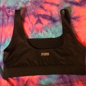 Victoria secret pink black sports bra